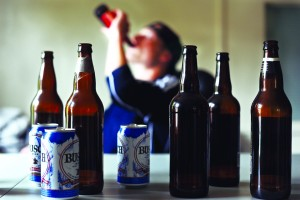 "Under a new definiton of ""alcoholic"" up to 40% of college students would be labeled as such.  (Photo Illustration by Alex McDougall/Oregon Daily Emerald)"