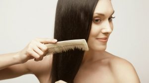 3. Trim your hair every few weeks to get rid of those brown and rough split ends. Cut about 1/4th an inch of your hair every 6 to 8 weeks to avoid the split ends to grow out again. 4. Don't wash your hair everyday and whenever you do, apply some conditioner on the ends. Try and use the same brand of shampoo and conditioner. 5. Rinse the conditioner off with cold water as it is good for both strength and shine.